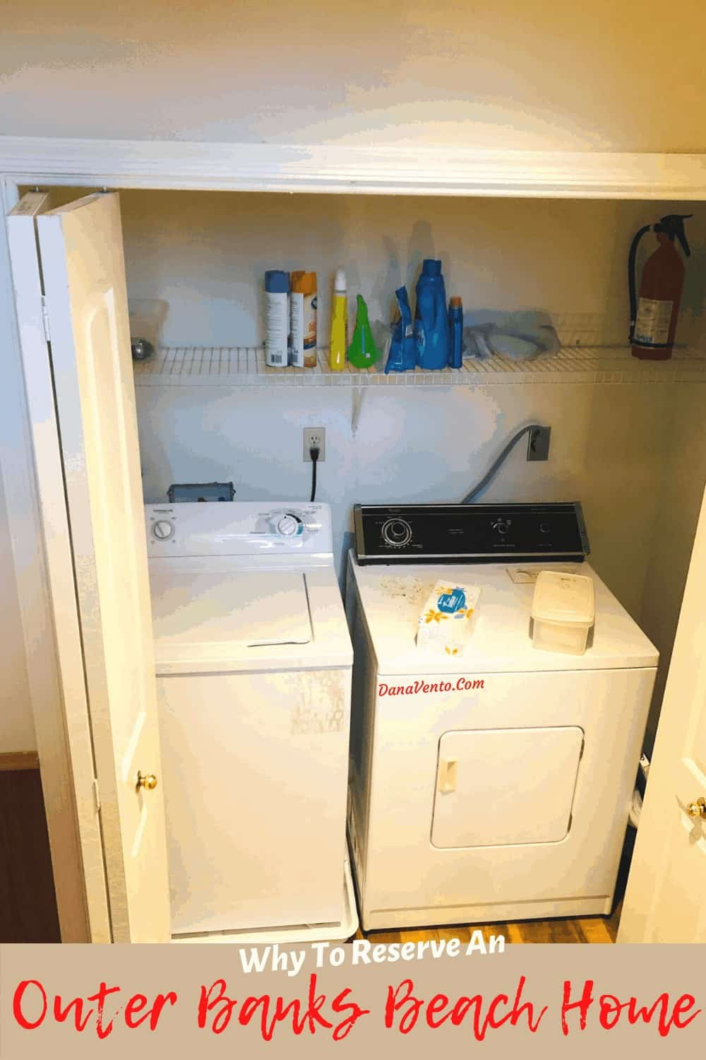 laundry room in our beach house at the Outer Banks