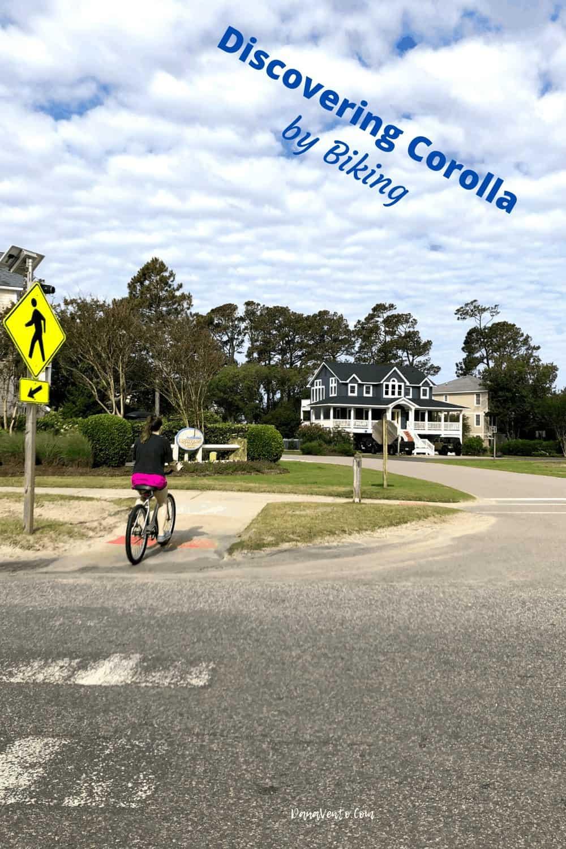 Biking on Austin Drive across Pedestrian Walkway
