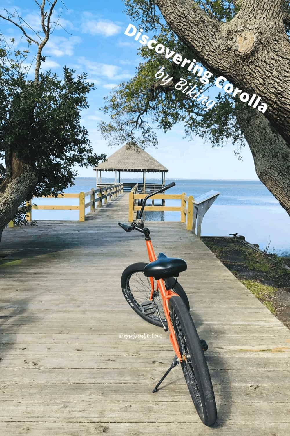 Pier at Historic Corolla Park with bike on it