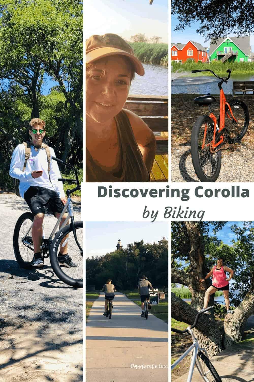Discover Corolla NC by Bike: me and boys in the photos biking in Corolla