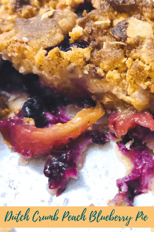 Blueberry Peach Pie Cut