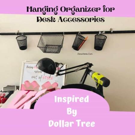 Wall organizer for desk accessories complete