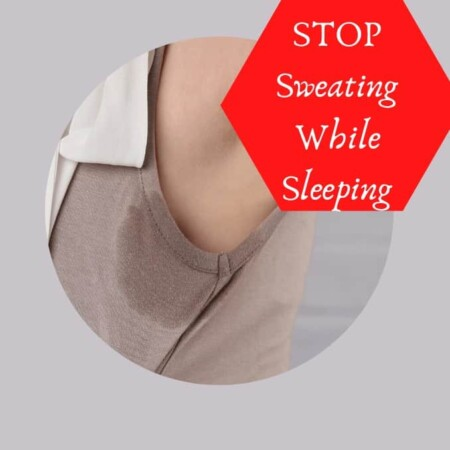 Read This To Stop Sweating While Sleeping in One Simple Step an image of armpit sweating during sleeping