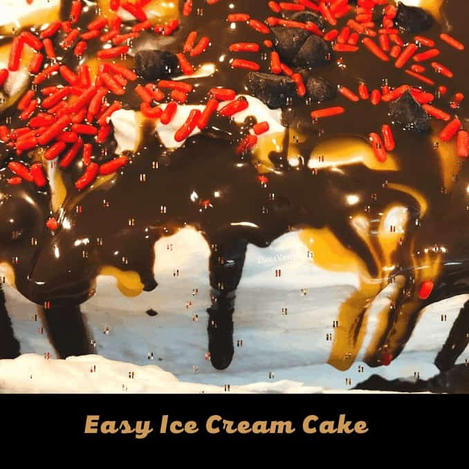 Easy Ice Cream Cake from Front