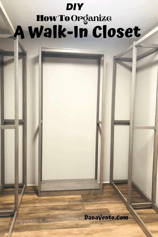 LUNDIA USA Gray Wash Frames built: Solid Wood Closet System Frames.