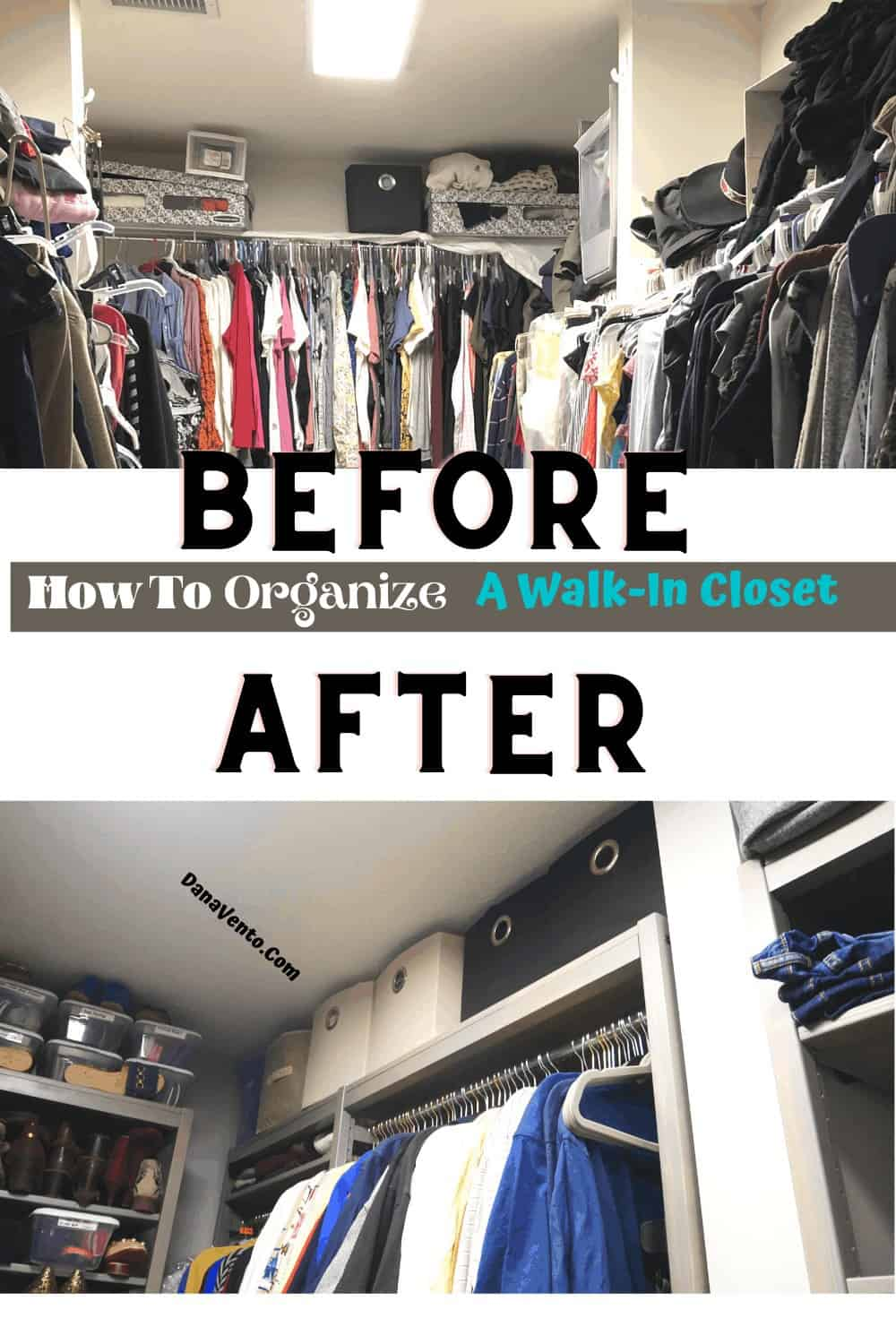 Before and after corner of LUNDIA USA closet