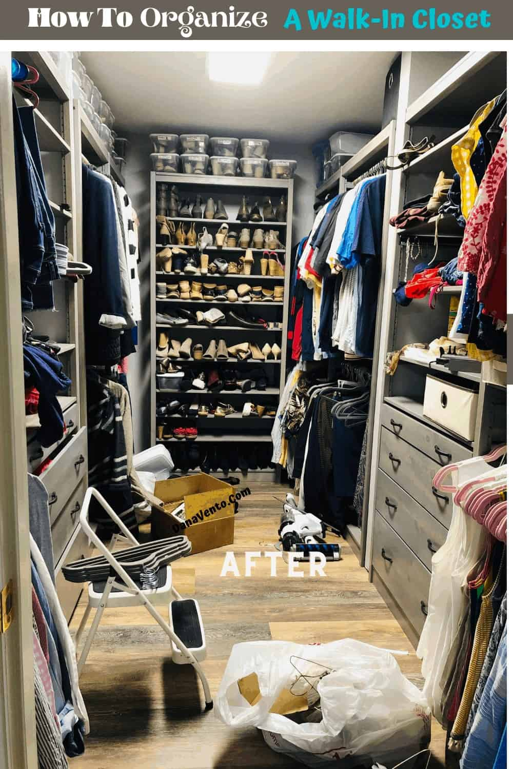 After LUNDIA USA Solid Wood Closet Install : stocking it