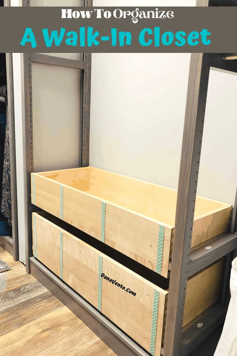 drawers in progress inside the solid wood closet system from Lundia USA