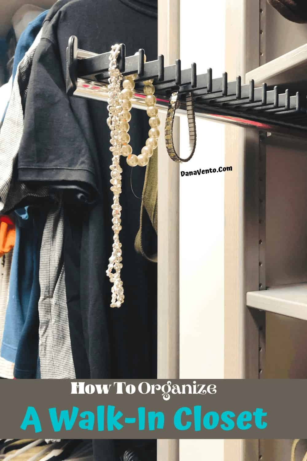Tie rack as a jewelry rack inside a LUNDIA USA solid wood closet system