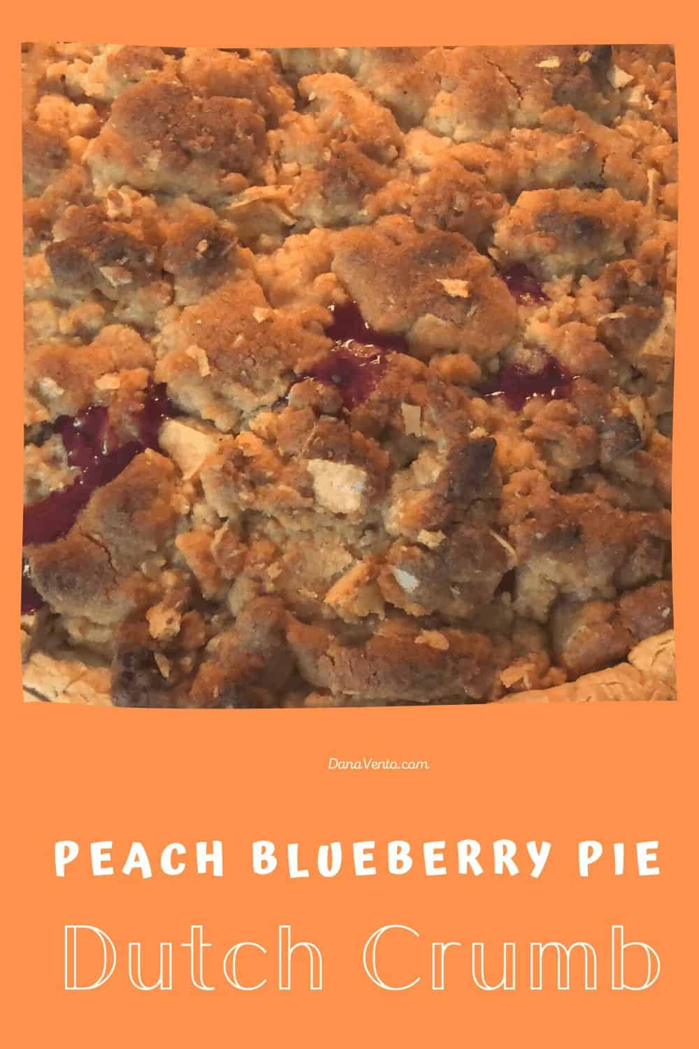 baked peach blueberry pie from above