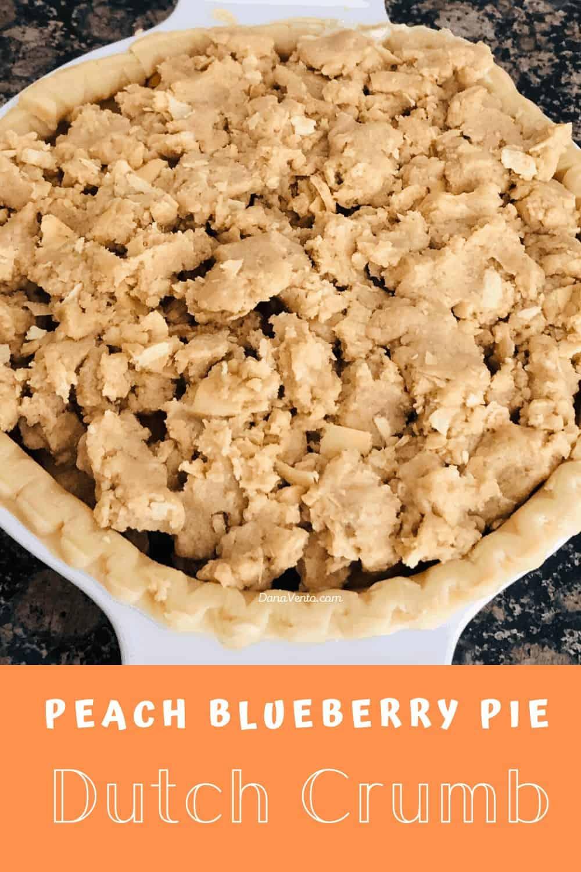 dutch crumb topping atop pie