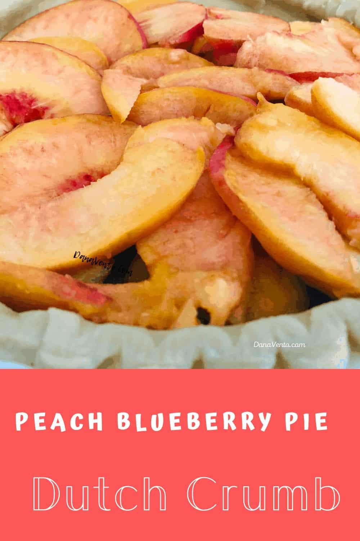 sliced peaches in pie crust