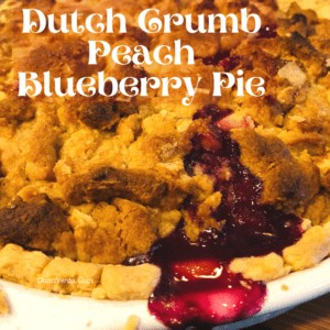 baked dutch crumb blueberry pie