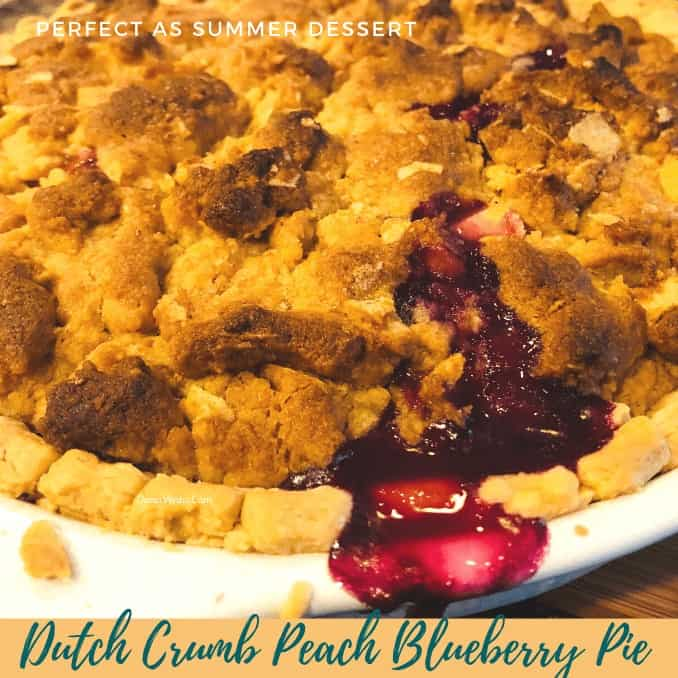 blueberry peach pie baked