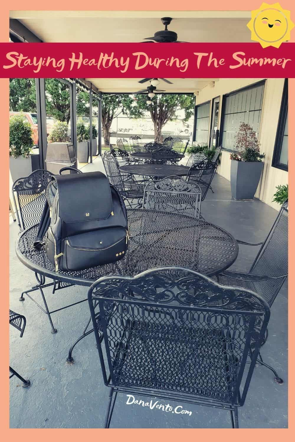 Outside seating staying healthy during the summer