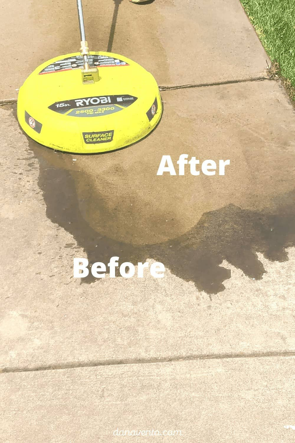 sidewalk with surface cleaner by RYOBI