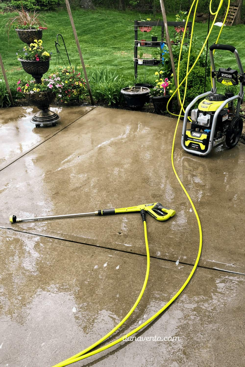 RYOBI 5-in-1 Power washing nozzle attached