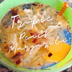 Triple Peach Margaritas in a glass