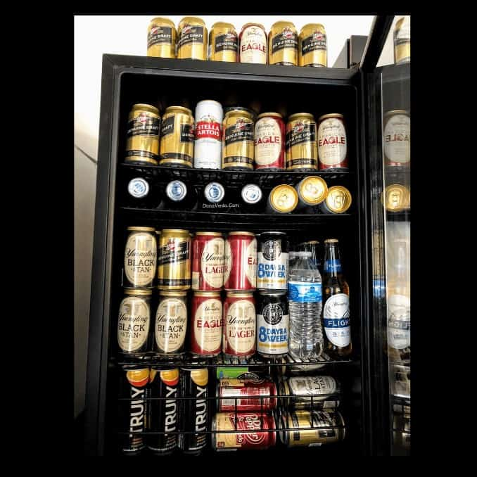 open NewAir 160 Can freestanding beverage fridge