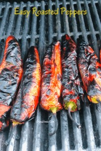 Easy Roasted Peppers charred
