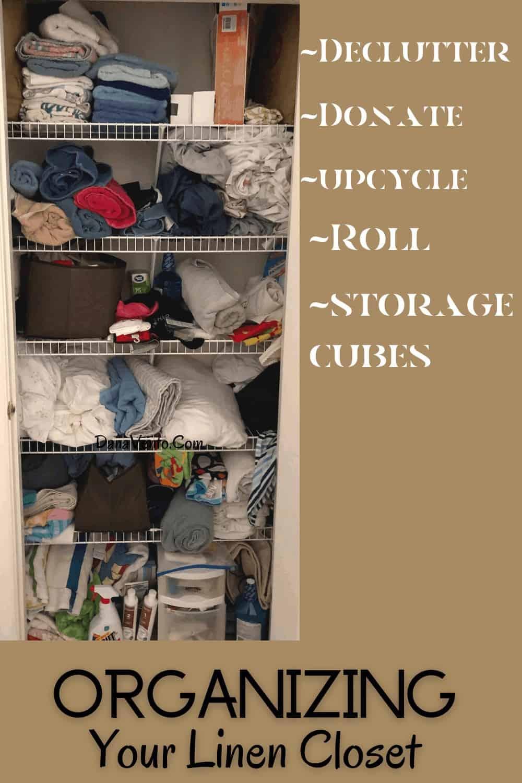 disorganized linen closet tips