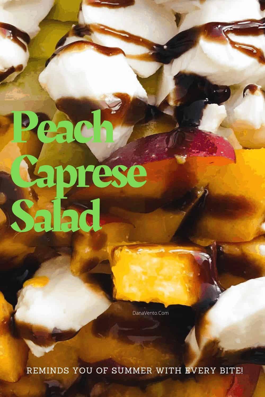 Peach chunks and fresh mozzarella