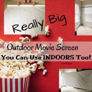 Really Big DIY Outdoor Movie Screen for Indoors Too