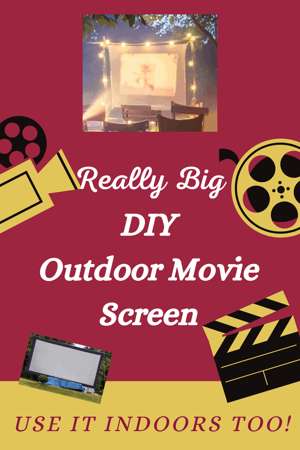 Really Big DIY Outdoor Movie Screen That You Can Use ...