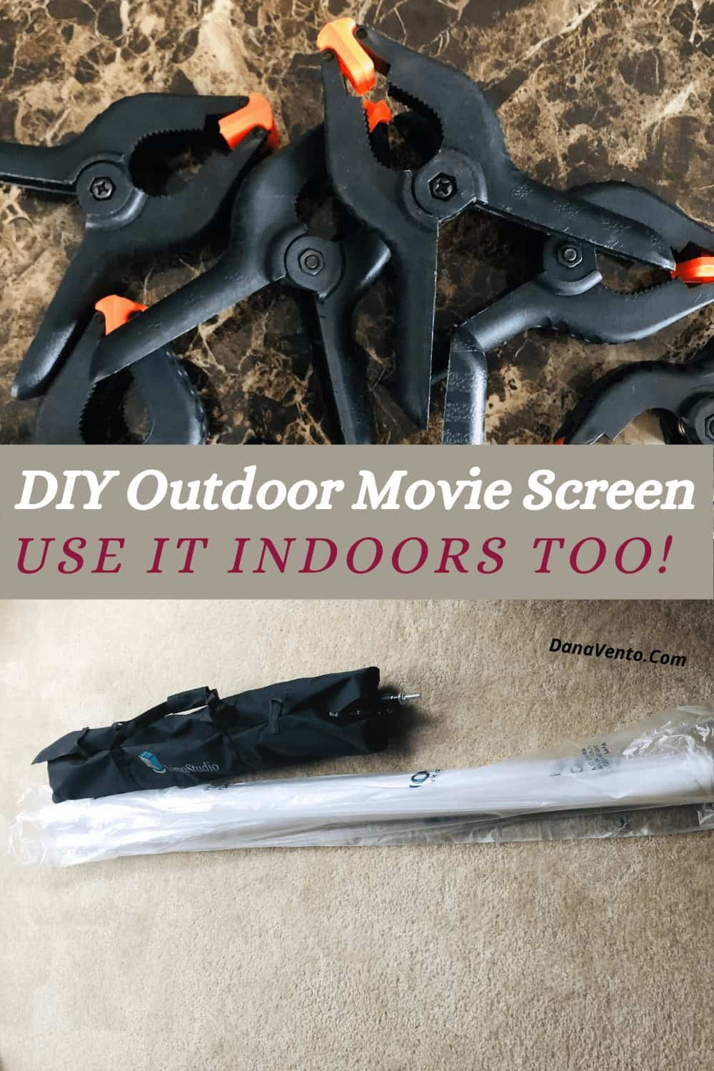 DIY Outdoor movie screen things to make it