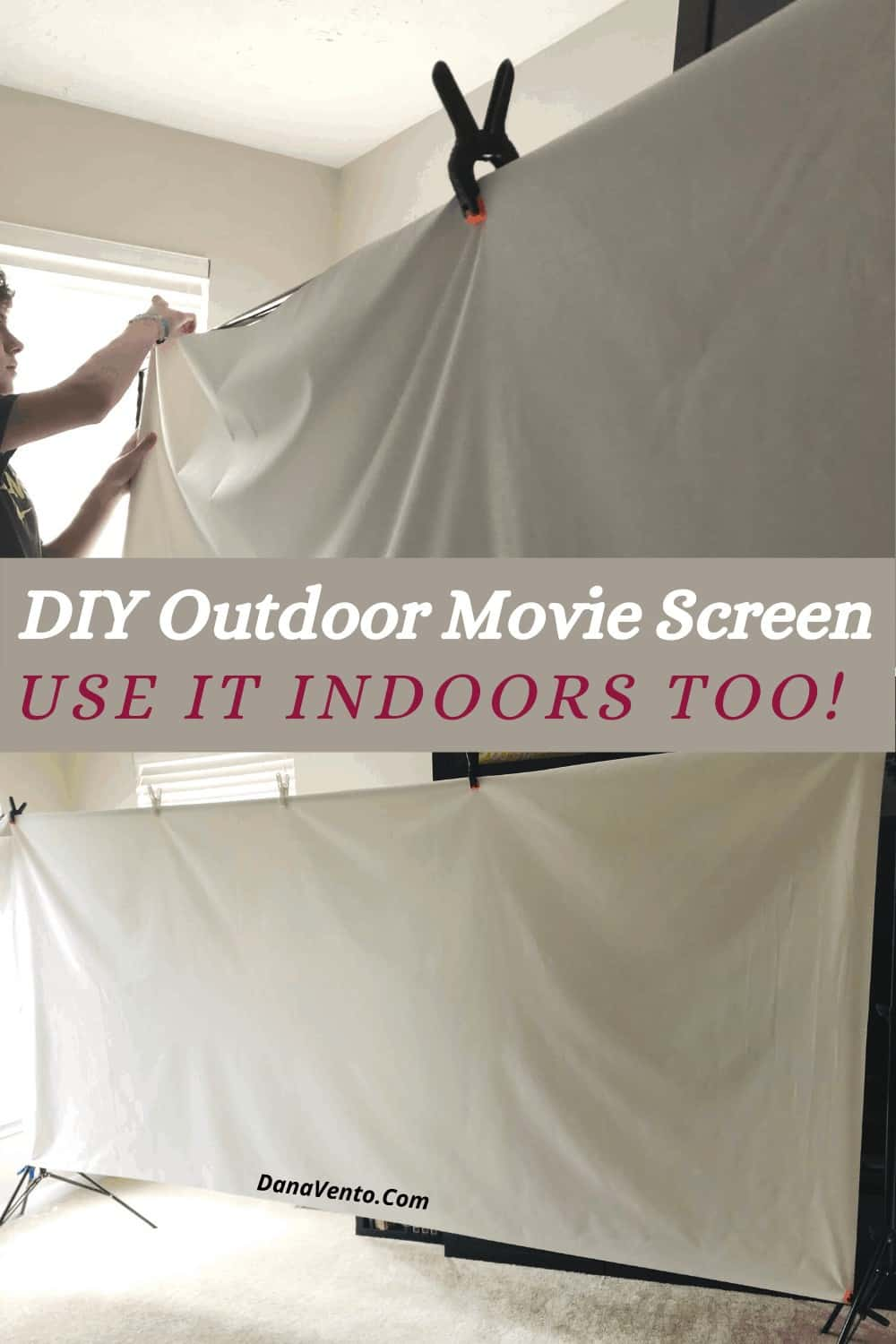 Clipping DIY Movie screen to frame