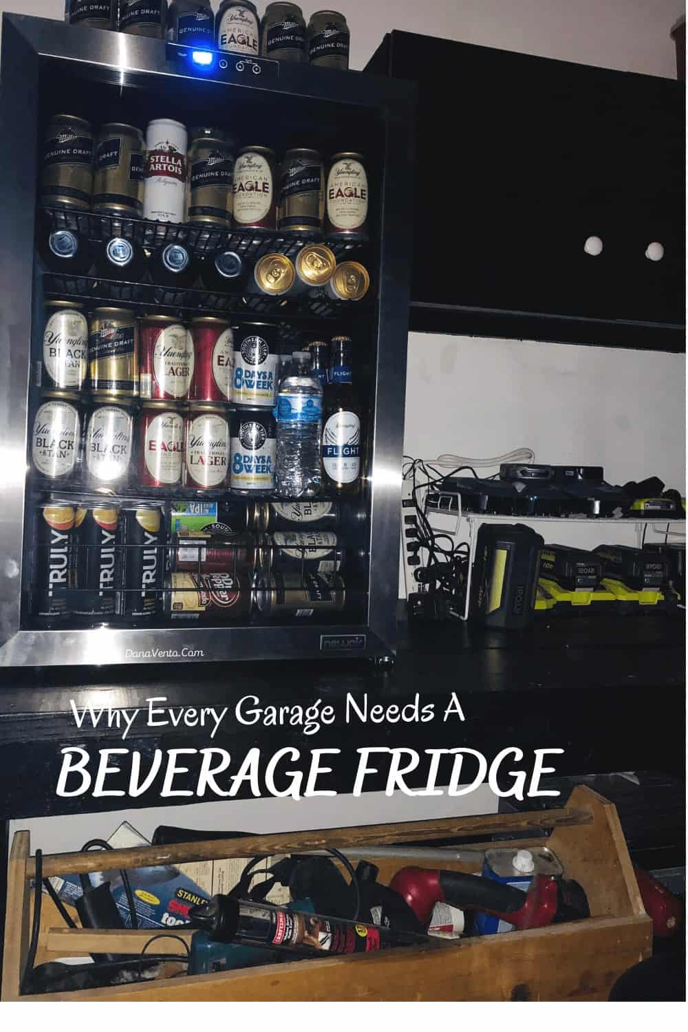 filled 160 Can beverage Fridge from NewAir
