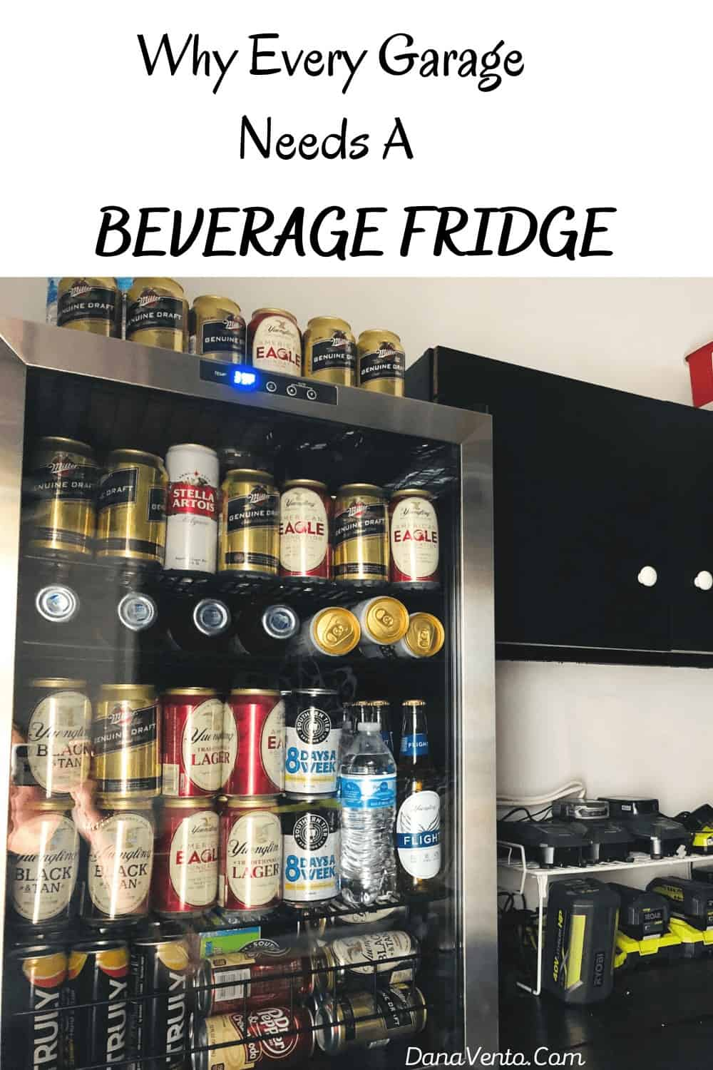 Garage Workbench With Beer and beverage Fridge