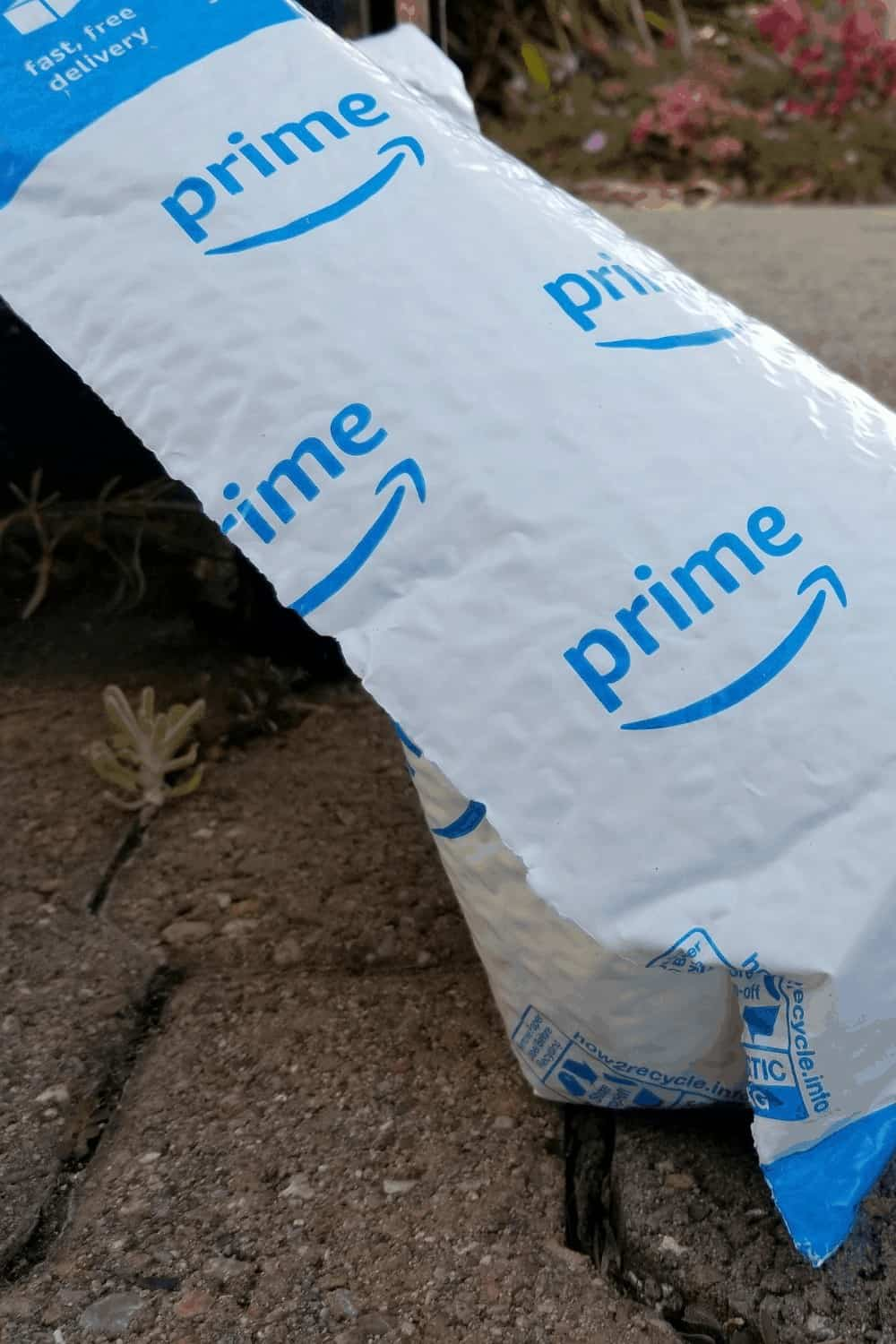 Amazon Prime bag on doorstep