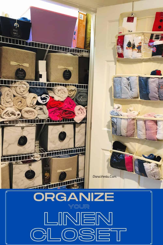 Linen Closet After Organizing