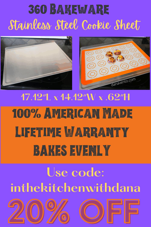 Dana's Coupon Code for 360 bakeware