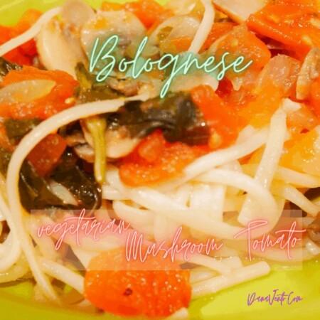 Slow Cooker Mushroom Tomato Bolognese (Ragu)