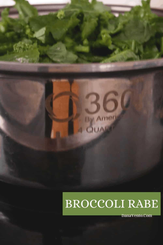 broccoli rabe in 360 4 quart stockpot