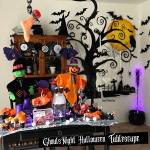 Spooky DIY Ghouls Night Halloween Tablescape