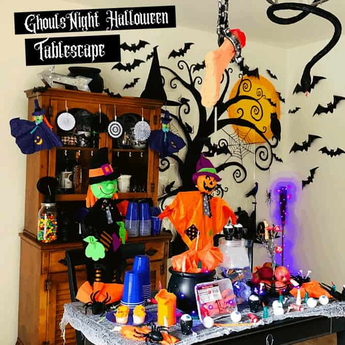 Tablescape afar for Ghouls Night