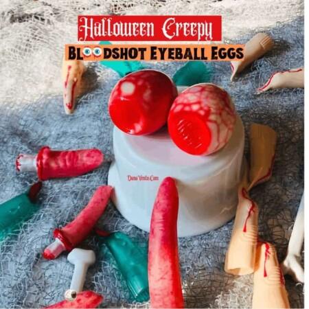 Halloween Creepy Bloodshot Eyeball Eggs