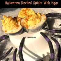Halloween Deviled Spider Eggs