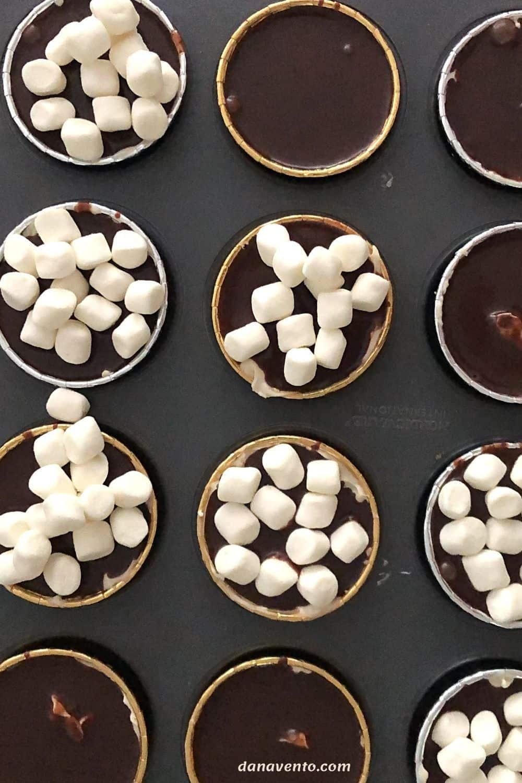 Easy chocolate ganache with marshmallows