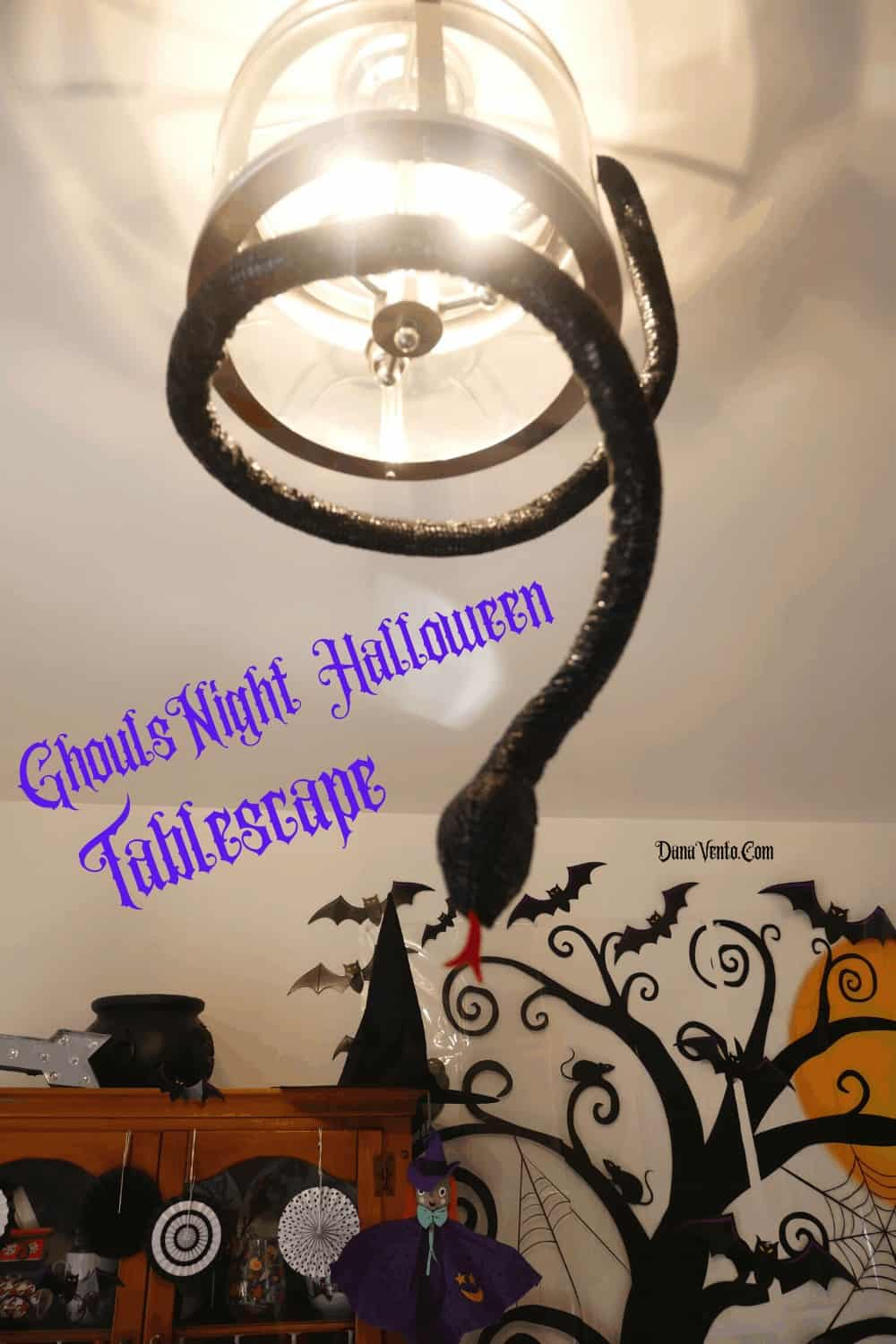 snake for Halloween tablescape
