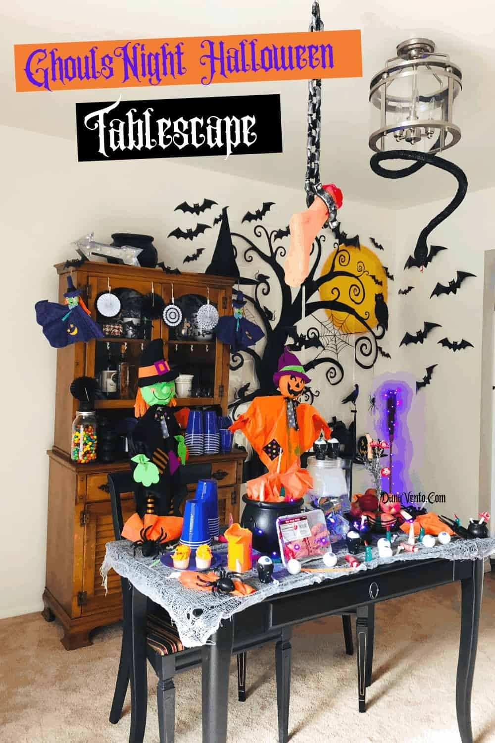 tablescape of Ghouls Night