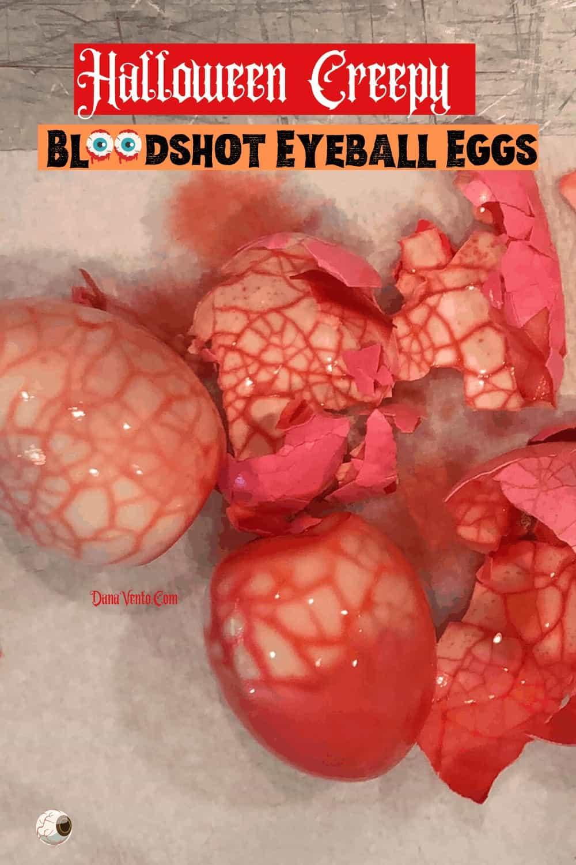 Making Bloodshot Egg Eyeballs for Halloween