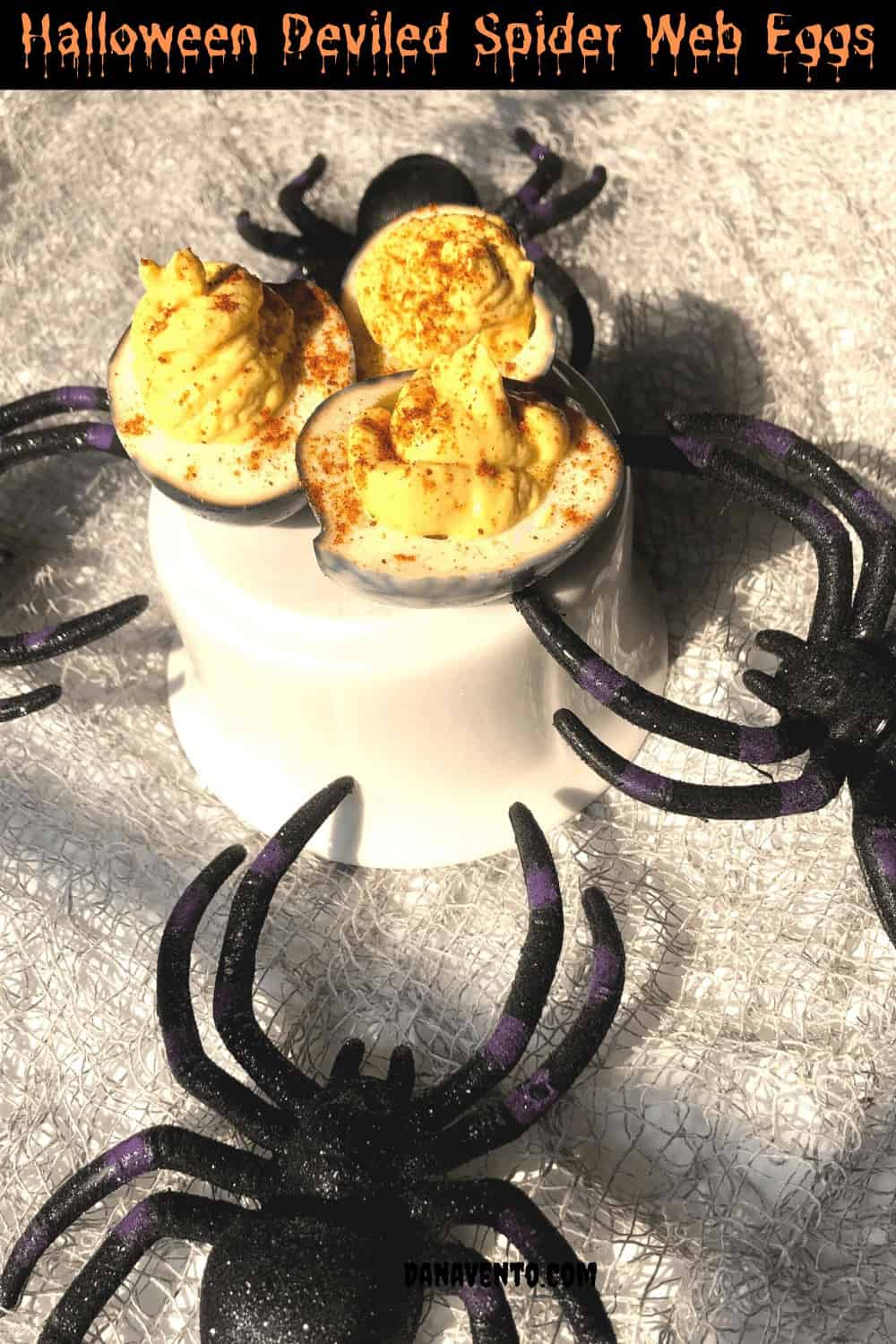 deviled eggs for spiders
