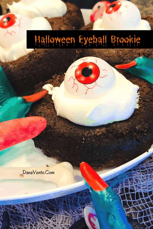 Eyeball Brookie Treat on platter