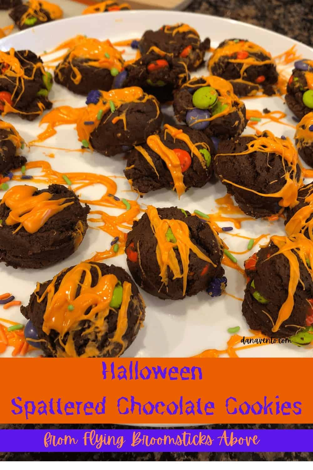 Halloween chocolate witch cookie bombs