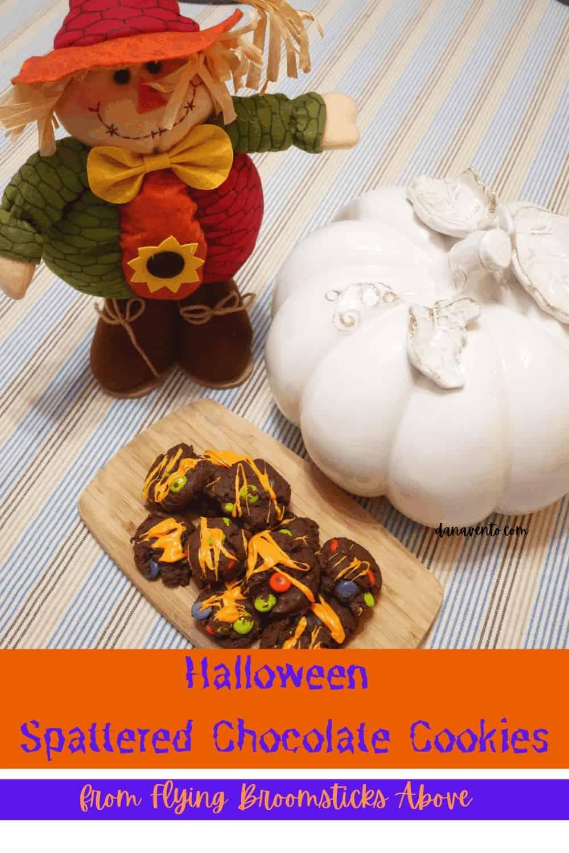 Halloween Spattered cookies