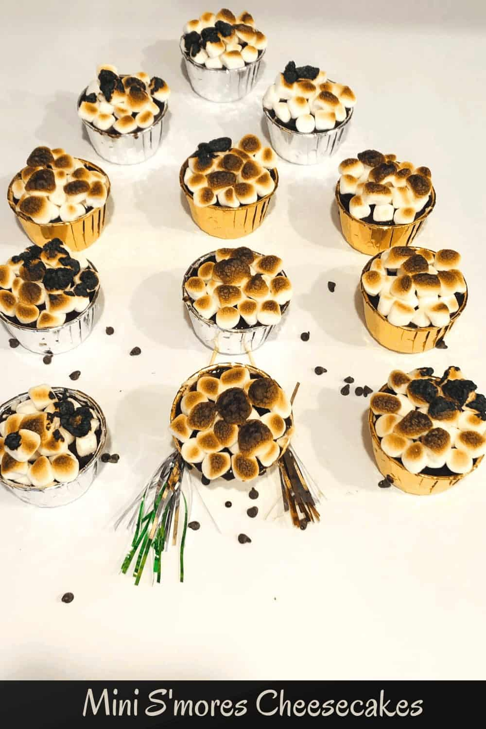 may mini s'more cheesecakes